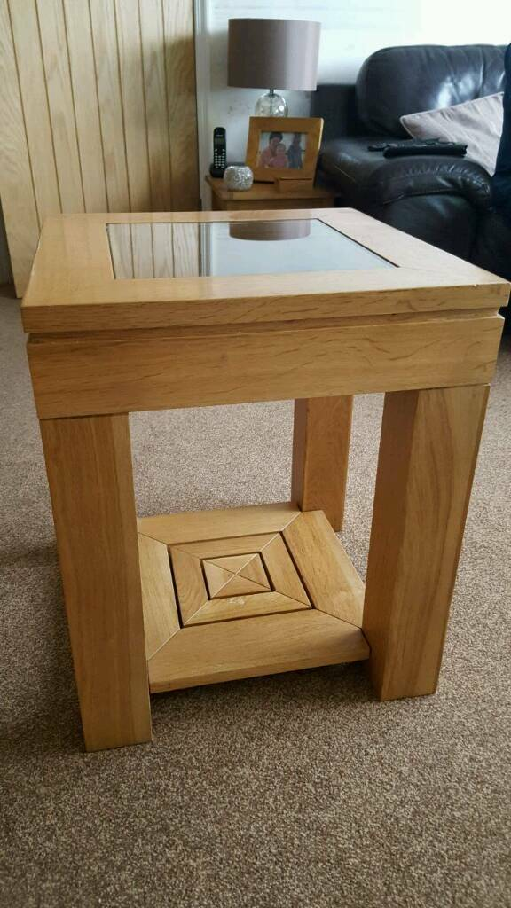 Oak and glass lamp table in chadderton manchester gumtree oak and glass lamp table aloadofball Choice Image