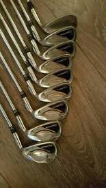 Nicklaus polarity irons. 4-sw Titleist vokey wedge 52'