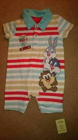 New Looney Tunes Romper 3-6 months