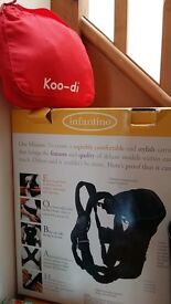 Baby carrier boxed Infantino used & Koo-di snug carrier cover brand new