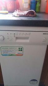 Hardly used beko slimline dish washer