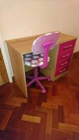 Girls desk and office chair
