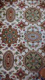 Used quality wool carpet , patterned, old style in good condition 370 x 368 cm Wakefield area