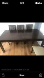 Wooden Table and 6 chairs