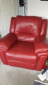 Quality single seat armchair in leather finish
