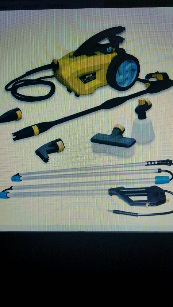 Wolf pressure washerin Tamworth, StaffordshireGumtree - new in box wolf pressure washer with sky blaster Lance to clean caravans conservatorys cars patios with all fittings as in picture 1500 watt motor light and easy to carry