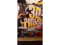 3D Cars & Trucks Sticker Book