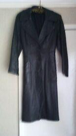 Retro 70's womens leather coat