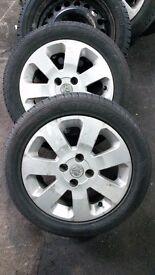 Vauxhall corsa alloys X4 alloy wheels tyres