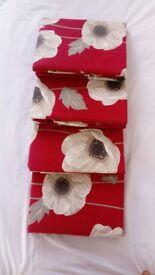 Brand New red poppy curtains -4 pairs