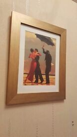 pair of gold framed Jack Vettriano pictures
