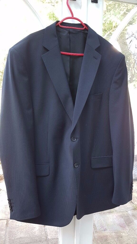 Pinstripe suit jacket and shirt