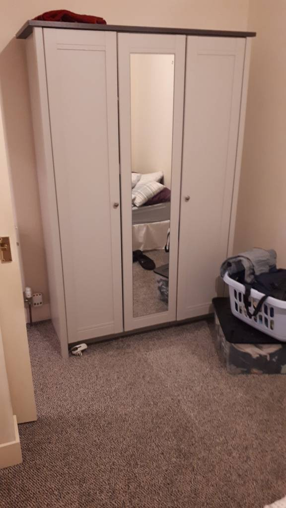 Wardrobe and fridge