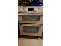 Hotpoint white integrated (floor standing) double oven hardly used