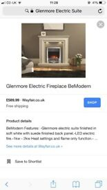 Electric fire and surround