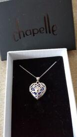 Sterling Silver Chapelle locket necklace BNIB