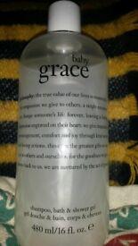 Philosophy 'baby grace' shampoo bath & shower gel 480ml new