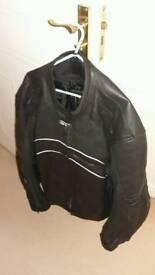 Frank thomas kinetik leather motorbike jacket