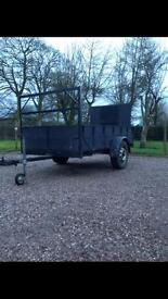 8x4 foot trailer with drop down back