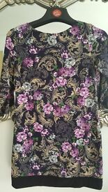 Floral multicoloured tunic dress size 12