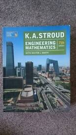 Engineering mathematics 7th edition, by K. A. Stroud( Dexter J. booth) used