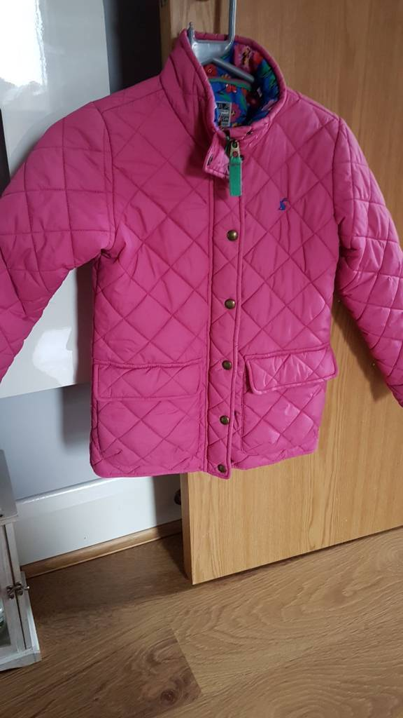 Girls pink joules coat age 9-10