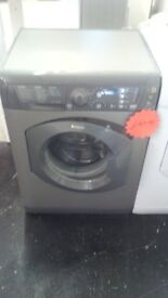 RECONDITIONED HOTPOINT GREY WASHING MACHINE 7KG LOAD 1400 SPIN @ BODMIN APPLIANCE REPAIRS