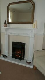 Wooden Fire Surround with tiled box hearth