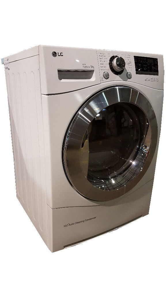 LG RC9055AP2Z White 9kg Eco Hybrid Condenser Dryer with Heat Pump Technologyin Normanton, West YorkshireGumtree - LG RC9055AP2Z White 9kg Eco Hybrid Condenser Dryer with Heat Pump Technology DESCRIPTION Seller refurbished LG RC9055AP2Z White 9kg Eco Hybrid Condenser Dryer with Heat Pump Technology. Item in good condition. Front panel is in very good condition....