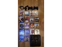 Playstation 3 bundle PS3 CONSOLE 500GB BLACK + TOP 17 GAMES+CAMERA+2xPS3 Dualshock Controllers
