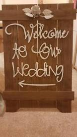 Welcome to our wedding sign (freestanding)