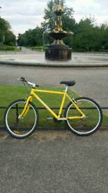 "Marin Bobcat Trail 19"" Rigid Frame Mountain Bike lemon yellow 21 speed"