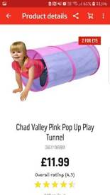 Pink play tunnel