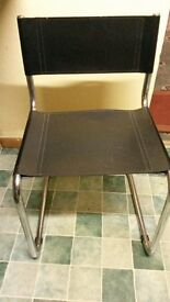 Leatherette chrome chair
