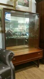 Retro glass fronted display cabinet