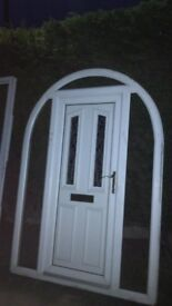 2 upvc doors minters no side glass optional