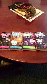 "Quadrilogy of glam books (NEW) from LISI HARRISON - ""MONSTER HIGH "" - 1,2,3,4 ..."