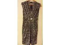 F&F ladies dress with the animal pattern size12