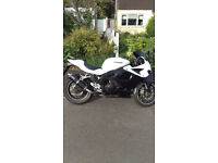 Hyosung GT250R £1400 White/Black 2011 Model 15500 miles only. MOT expires June 2018