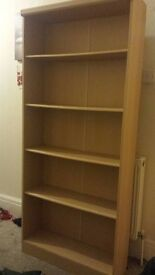 Large Bookcase. Beech.