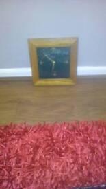 wooden cloverleaf clock