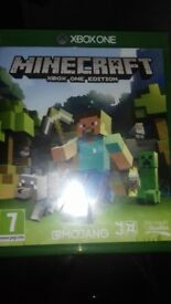 Minecraft game for xbox1. Hours of fun