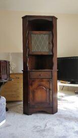 Lovely corner display cabinet £40