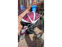 City mini pushchair for sale in purple £80.00!!