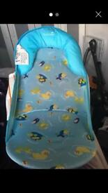 Blue from birth bath chair