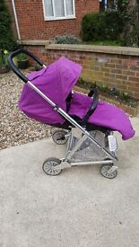 Mamas and Papas purple pushchair, excellent condition!