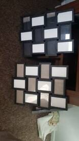 2 black photo frames