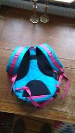 Beautiful Blue rucksack with reddish close to pink highlighting £6