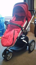 Quinny Buzz 3 - with XL hood, XL shopping basket, Buzz box, rain cover and footmuff