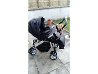 Silver cross Pram complete with car seat and accessories